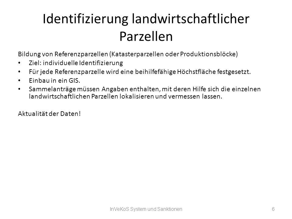 Identifizierung landwirtschaftlicher Parzellen