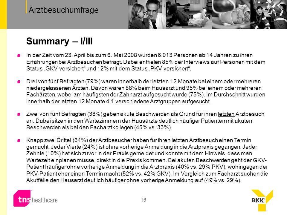 Summary – I/III