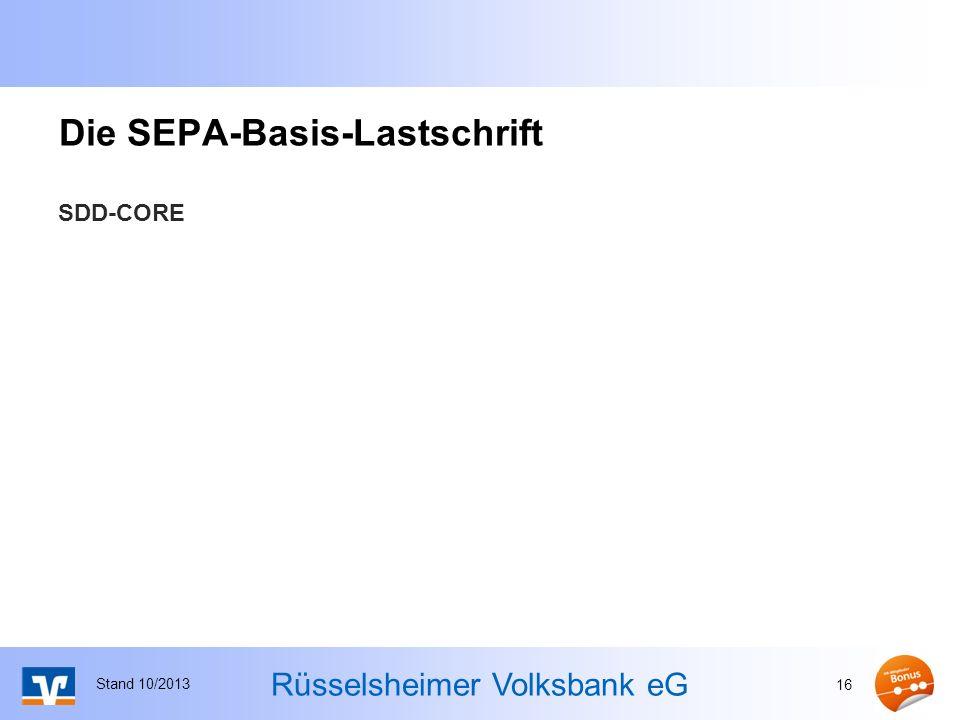 Die SEPA-Basis-Lastschrift