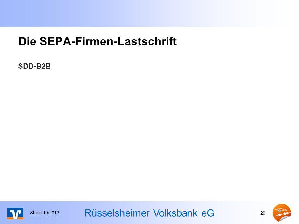 Die SEPA-Firmen-Lastschrift