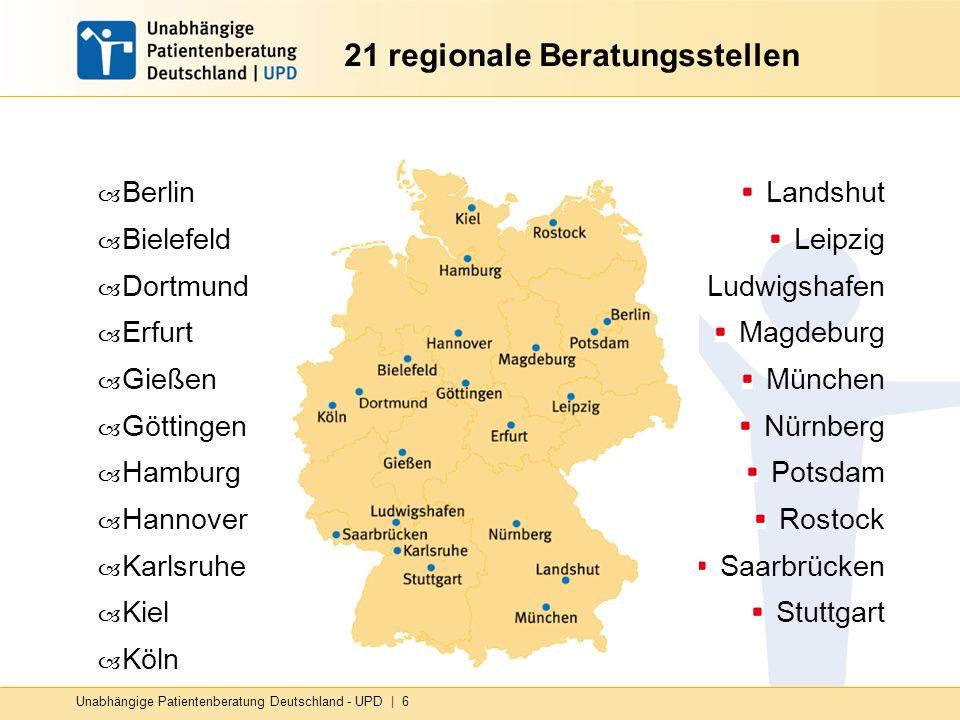 21 regionale Beratungsstellen