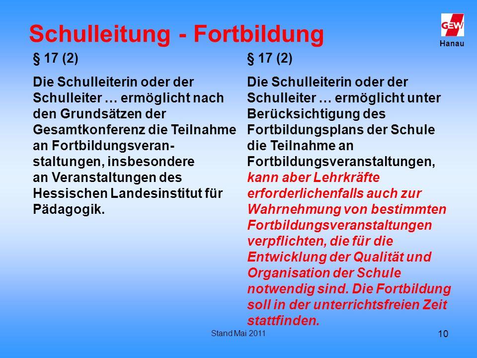 Schulleitung - Fortbildung