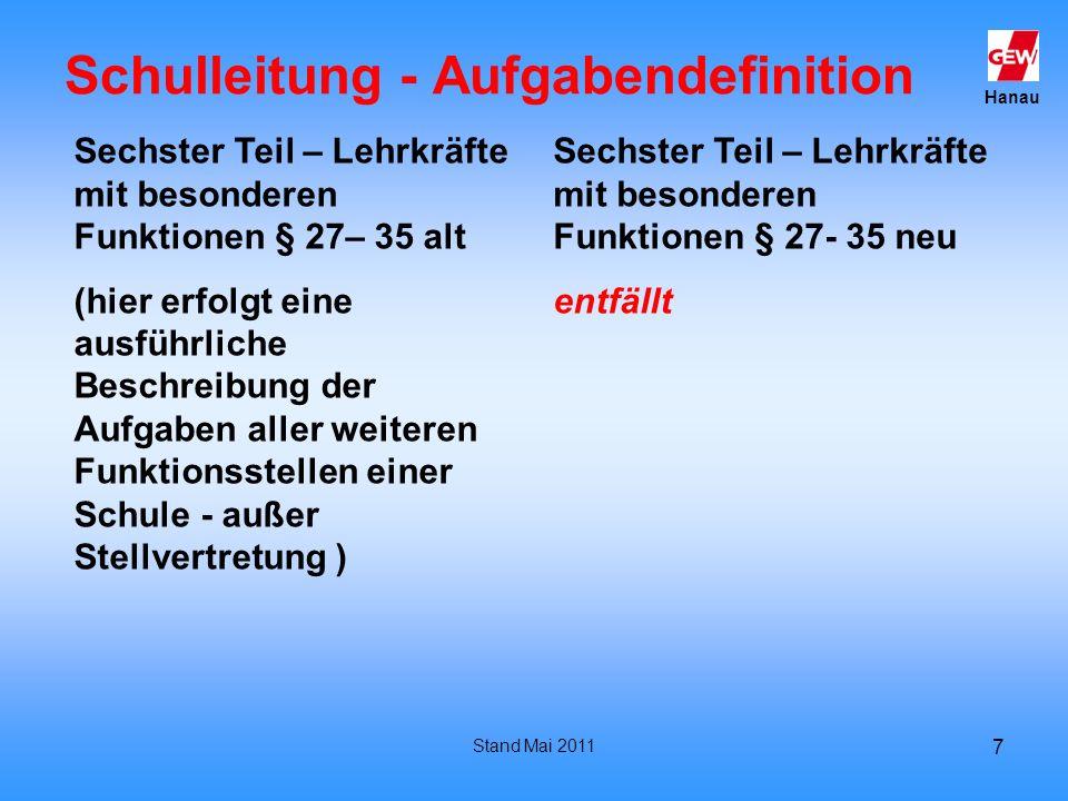 Schulleitung - Aufgabendefinition
