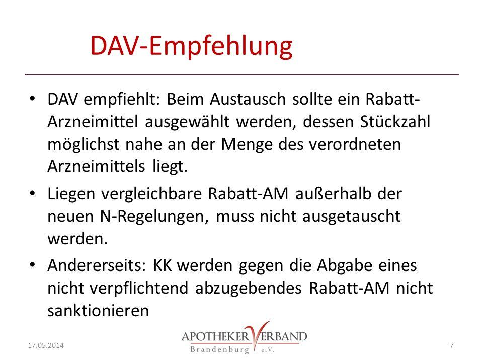 DAV-Empfehlung