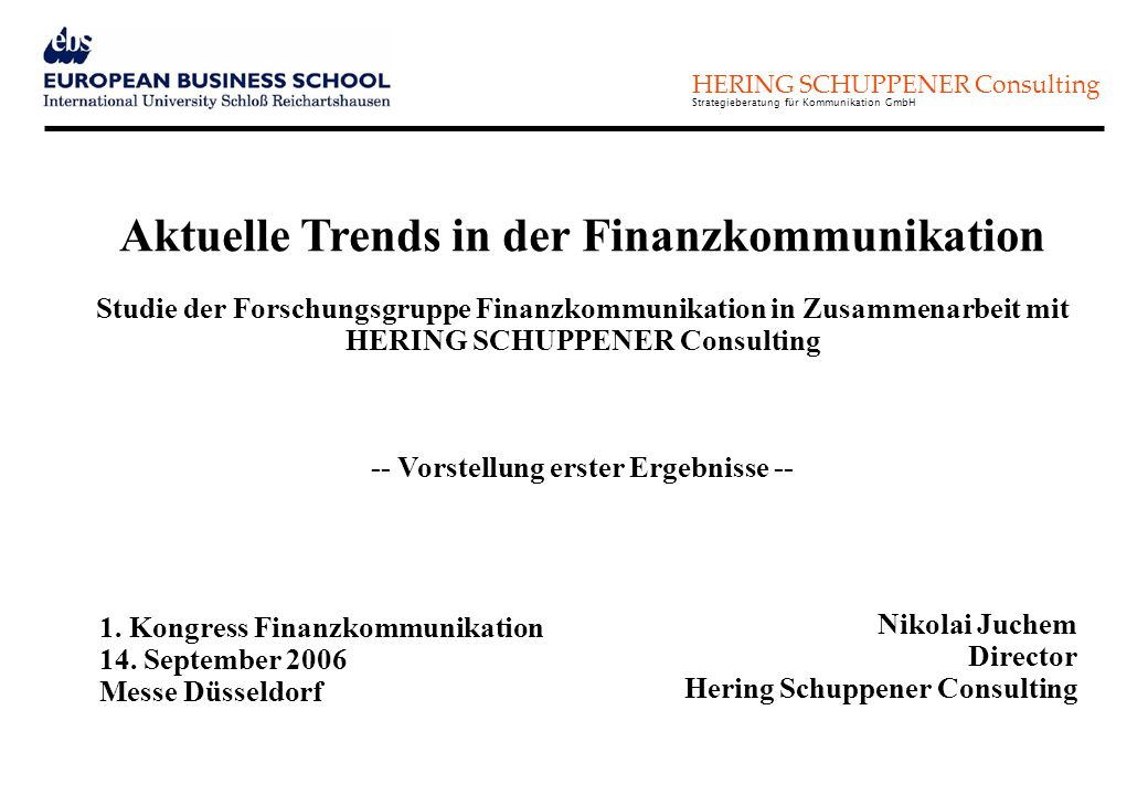 Aktuelle Trends in der Finanzkommunikation