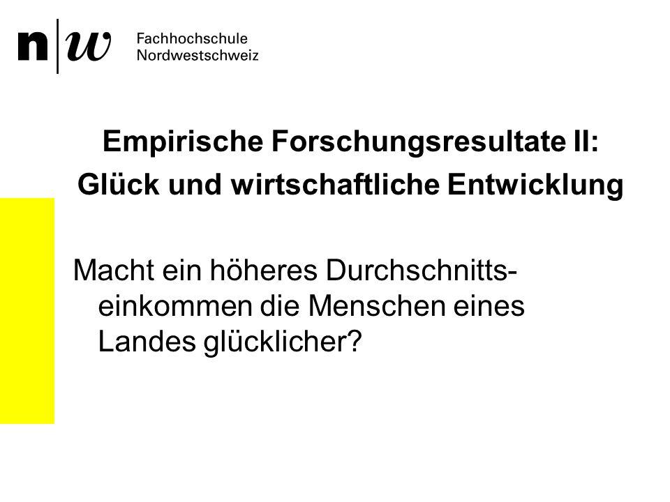 Empirische Forschungsresultate II: