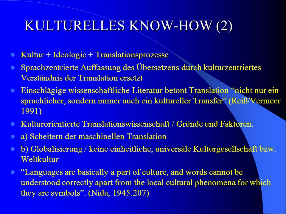 KULTURELLES KNOW-HOW (2)