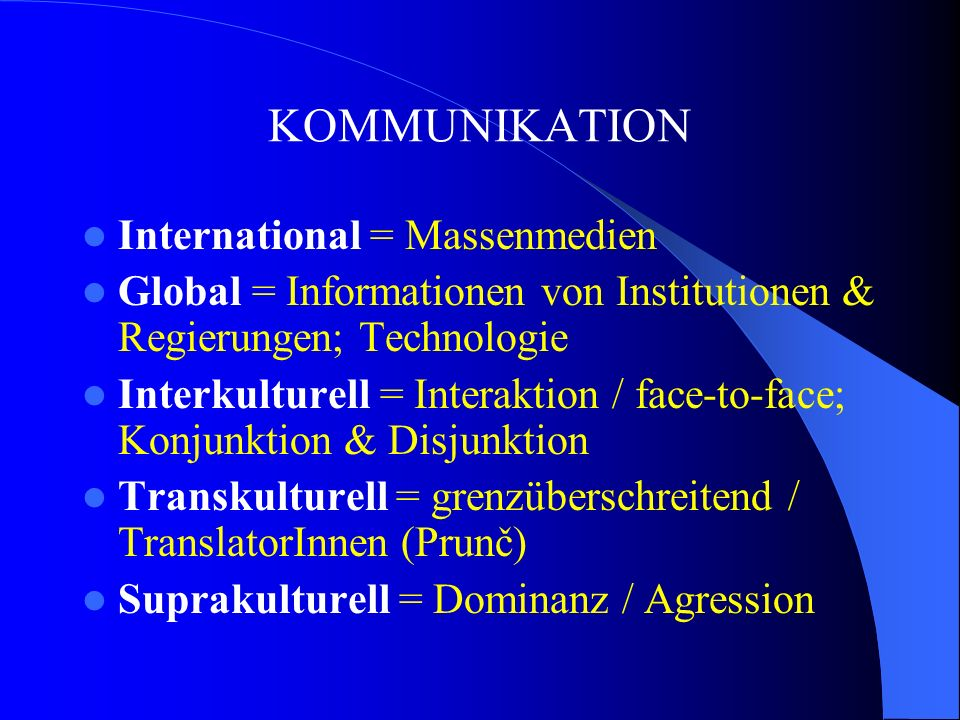 KOMMUNIKATION International = Massenmedien