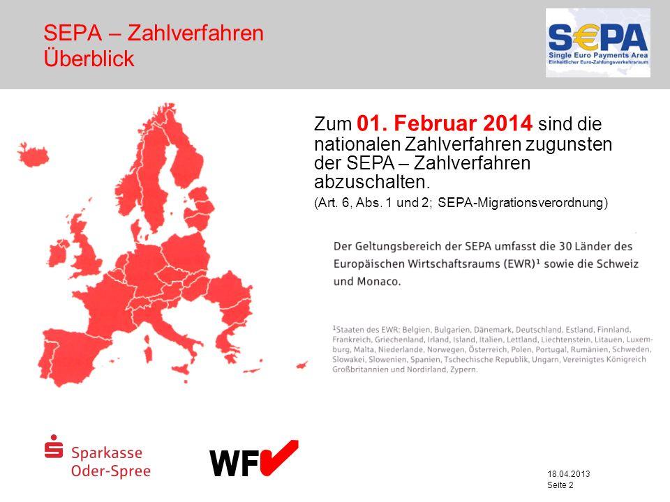 SEPA – Zahlverfahren Überblick