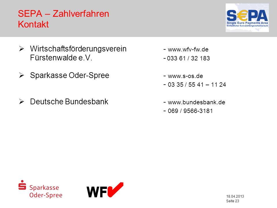 SEPA – Zahlverfahren Kontakt