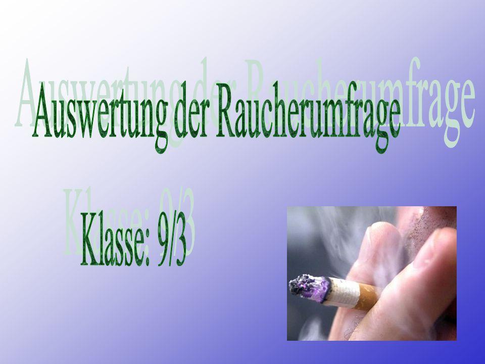 Auswertung der Raucherumfrage
