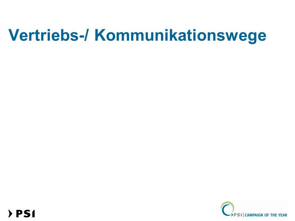 Vertriebs-/ Kommunikationswege