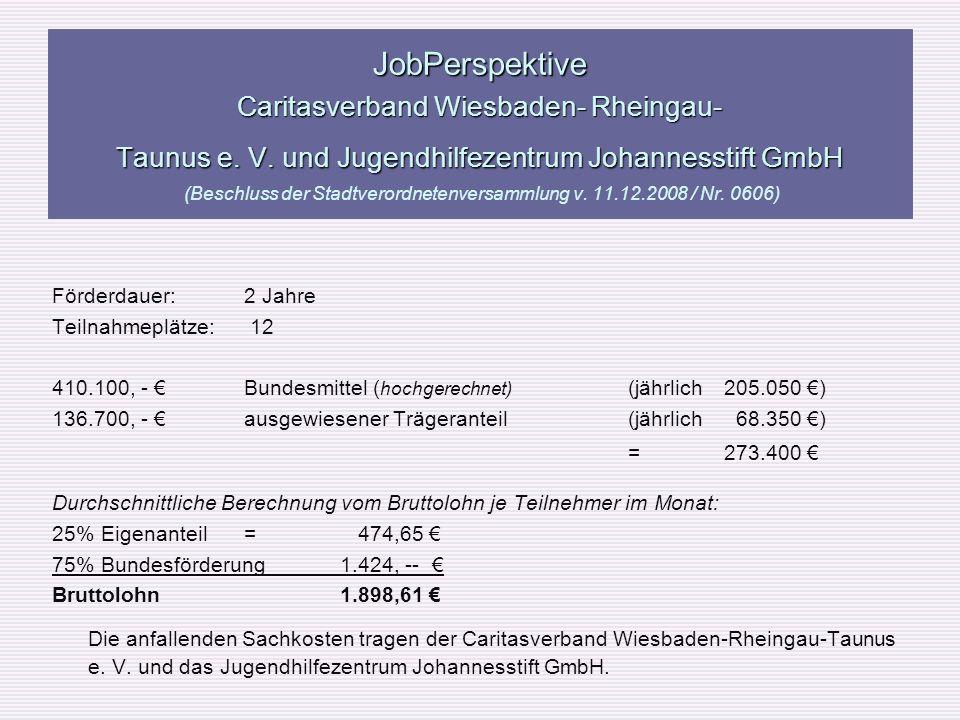 JobPerspektive Caritasverband Wiesbaden- Rheingau- Taunus e. V