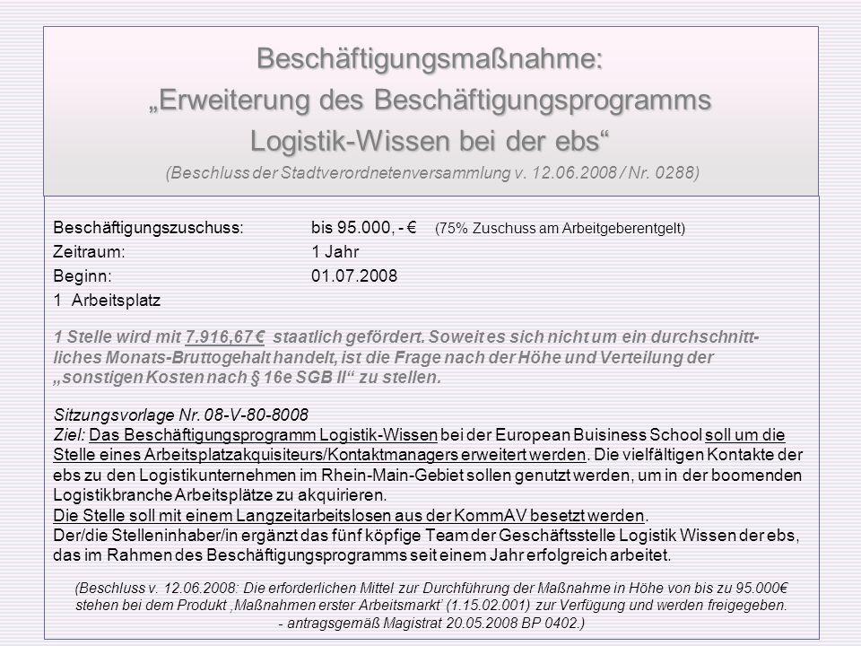 - antragsgemäß Magistrat 20.05.2008 BP 0402.)