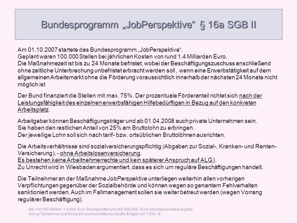 "Bundesprogramm ""JobPerspektive § 16a SGB II"