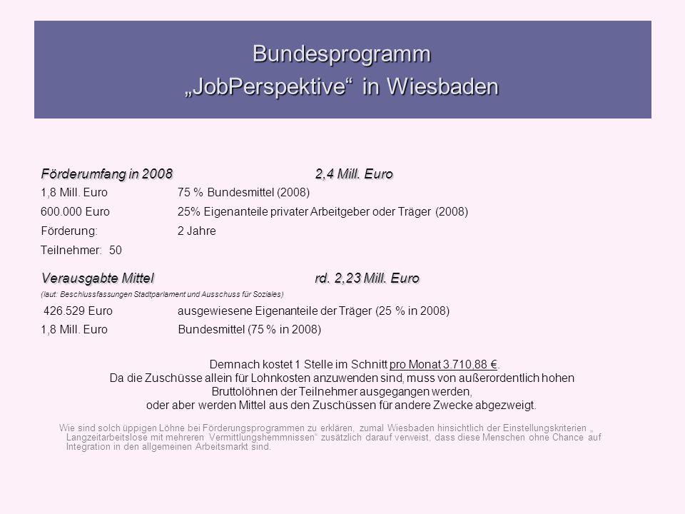 """Bundesprogramm """"JobPerspektive in Wiesbaden"""