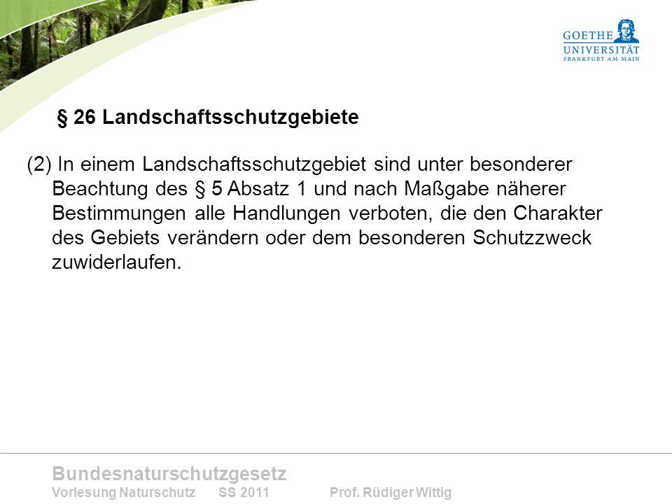 § 26 Landschaftsschutzgebiete
