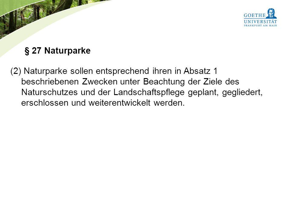 § 27 Naturparke