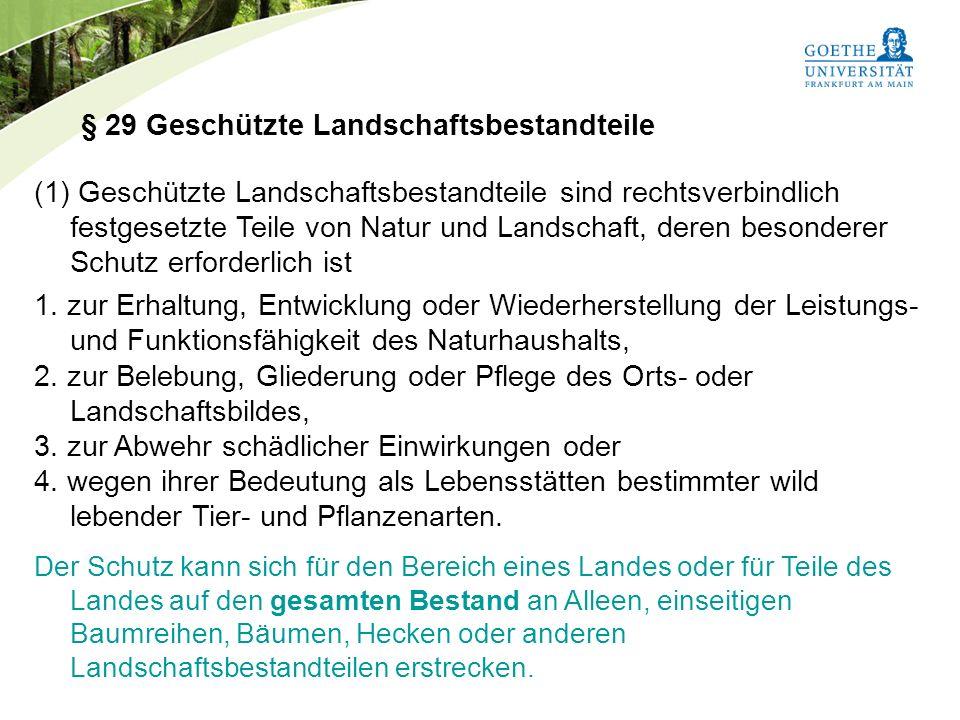 § 29 Geschützte Landschaftsbestandteile