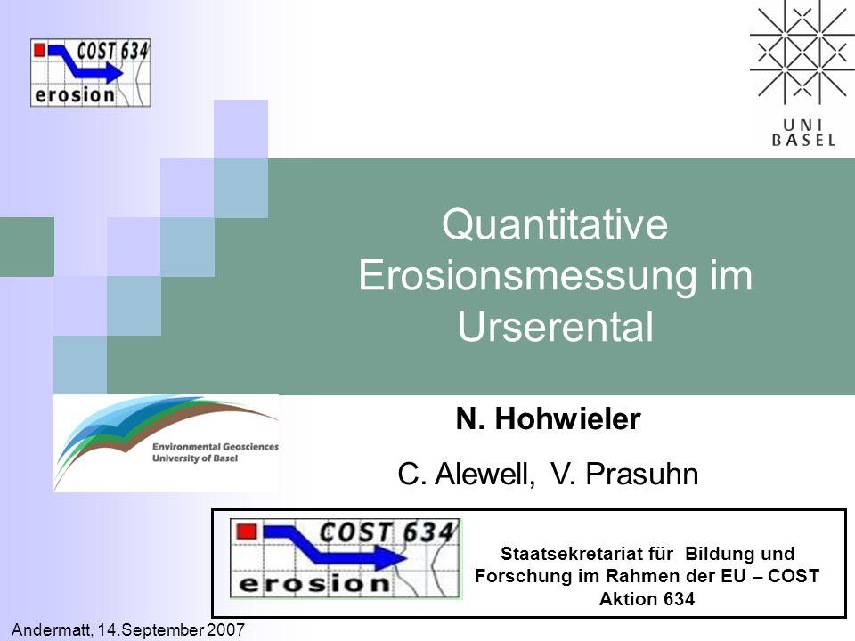 Quantitative Erosionsmessung im Urserental