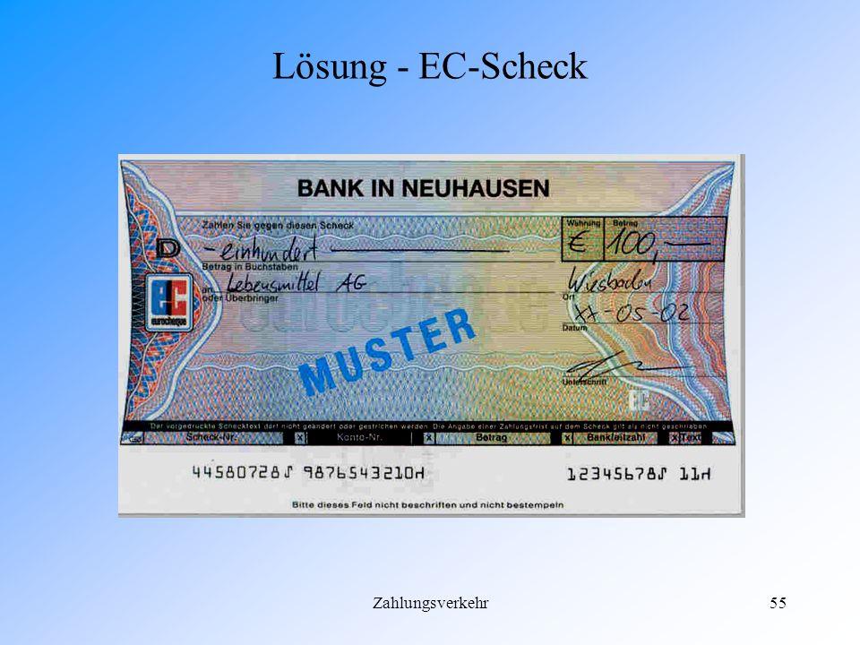 Lösung - EC-Scheck Zahlungsverkehr