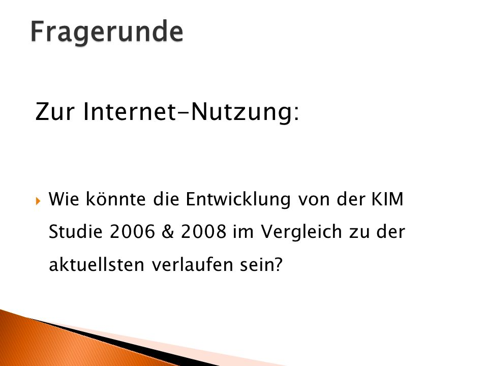 Fragerunde Zur Internet-Nutzung: