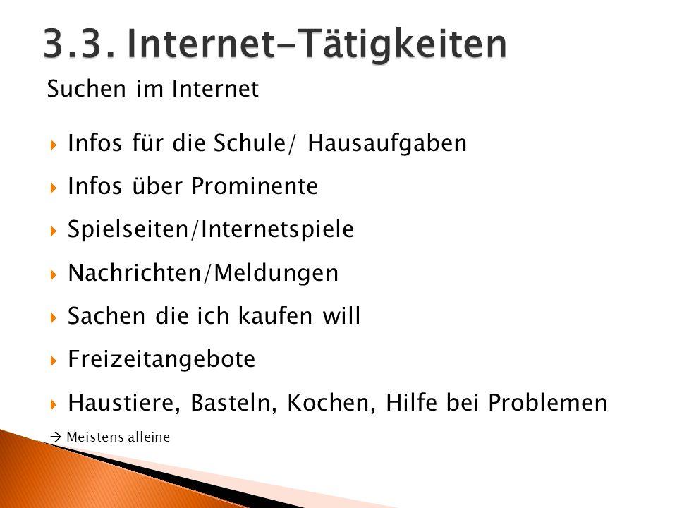 3.3. Internet-Tätigkeiten