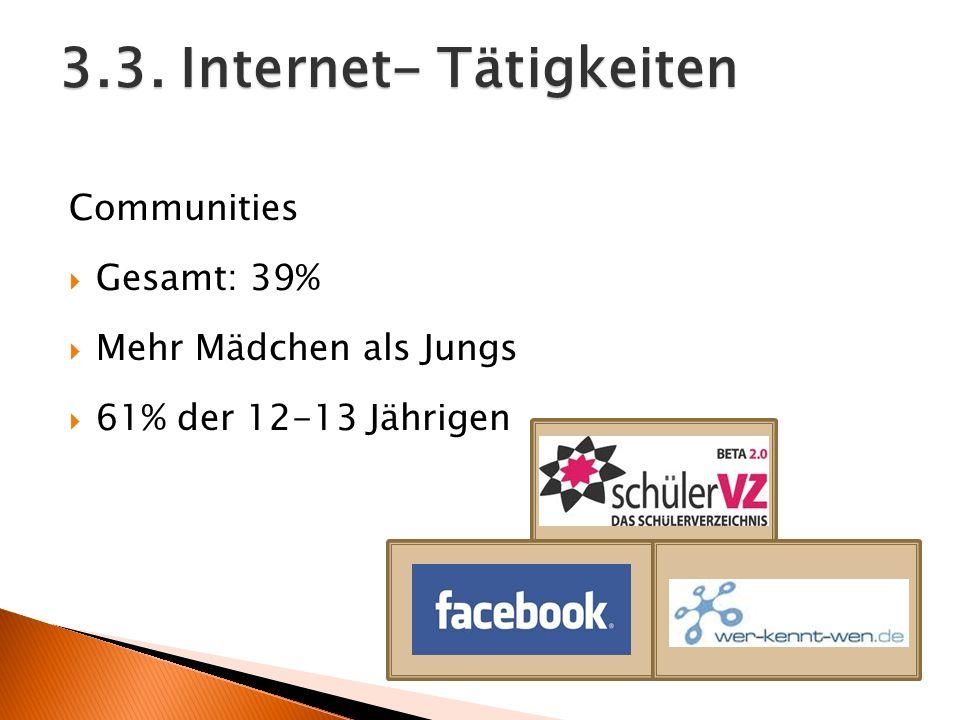 3.3. Internet- Tätigkeiten