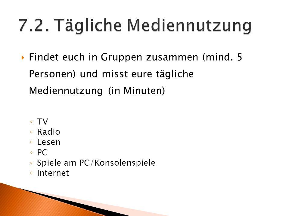 7.2. Tägliche Mediennutzung