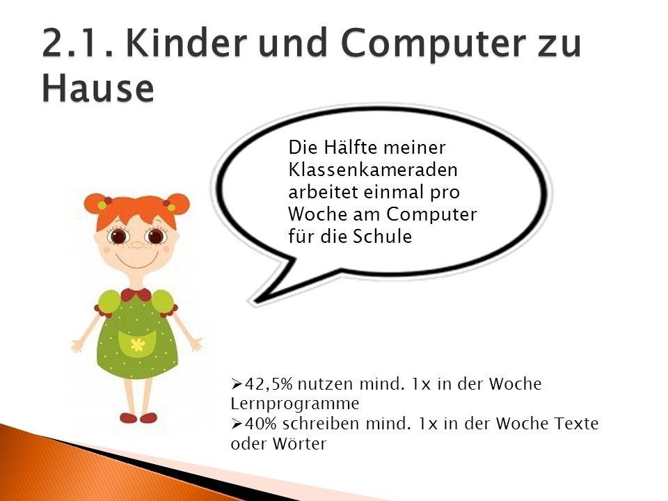 2.1. Kinder und Computer zu Hause