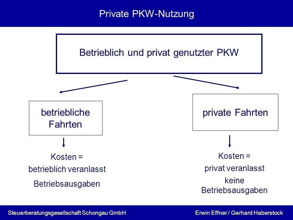 Betrieblich und privat genutzter PKW