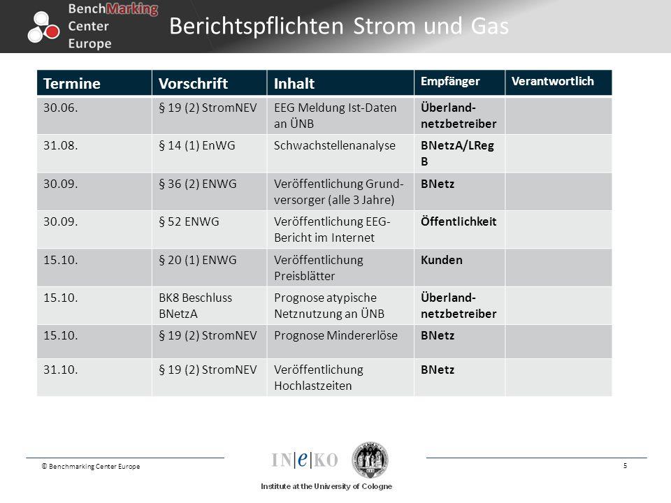 Berichtspflichten Strom und Gas