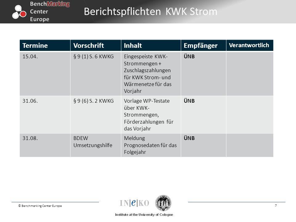 Berichtspflichten KWK Strom