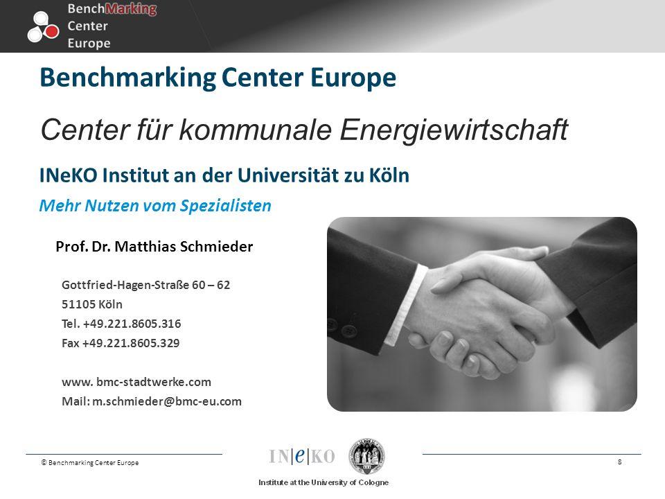 Benchmarking Center Europe Center für kommunale Energiewirtschaft