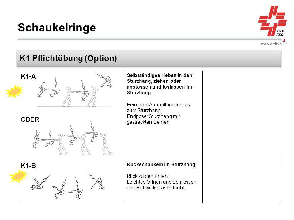 Schaukelringe K1 Pflichtübung (Option) ODER K1-A K1-B