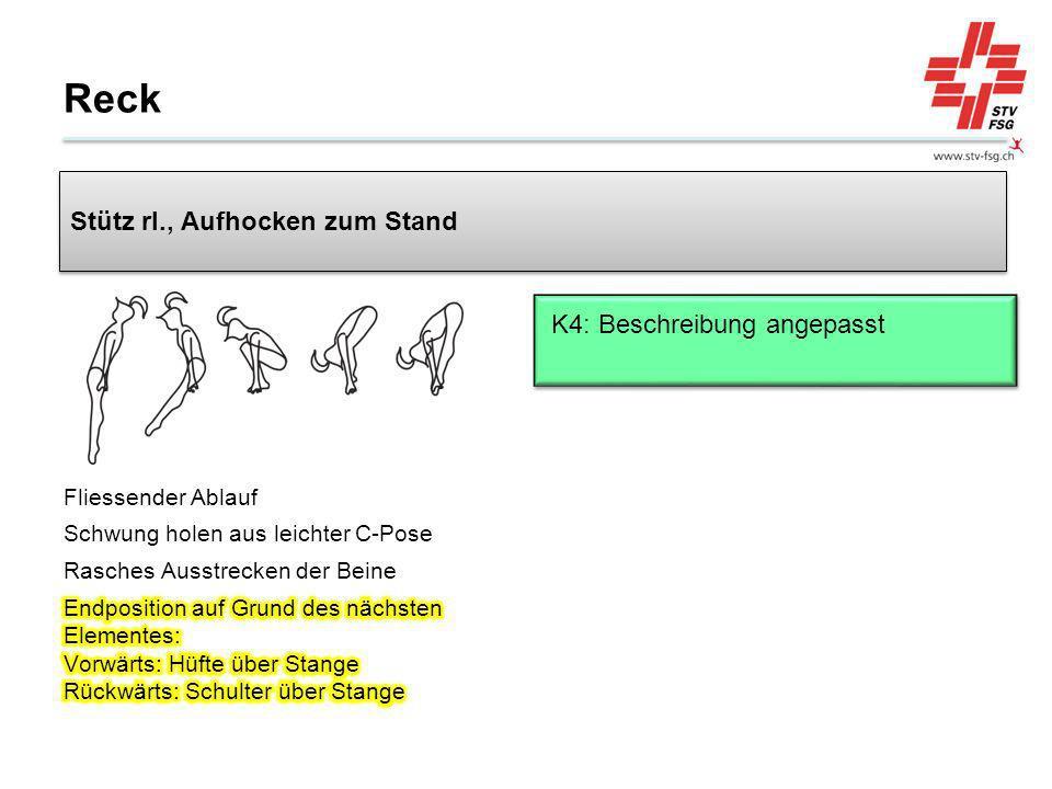 Reck Stütz rl., Aufhocken zum Stand K4: Beschreibung angepasst