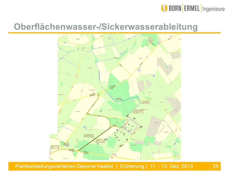 Oberflächenwasser-/Sickerwasserableitung