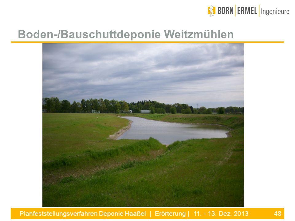 Boden-/Bauschuttdeponie Weitzmühlen