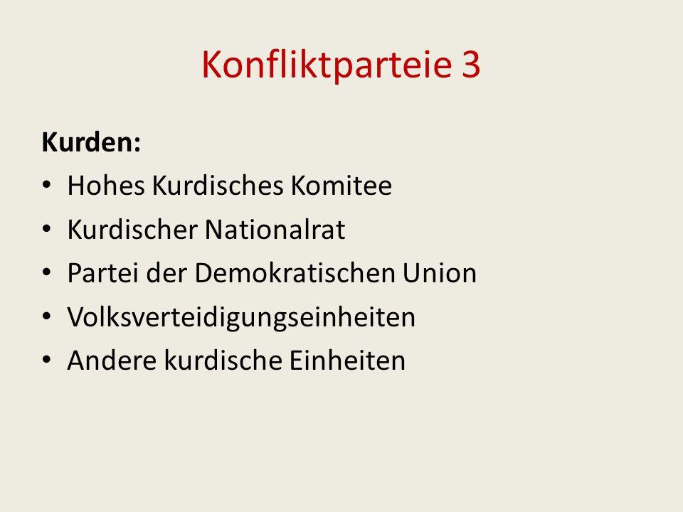 Konfliktparteie 3 Kurden: Hohes Kurdisches Komitee