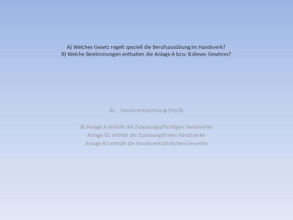 Handwerksordnung (HwO)