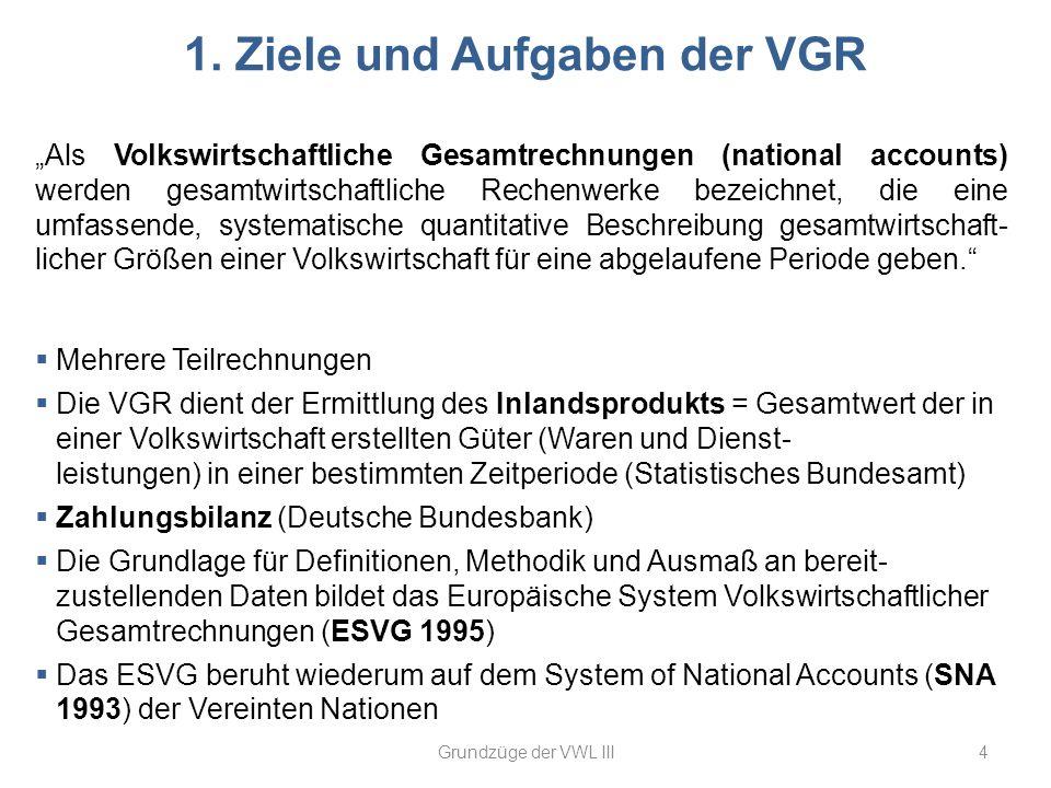 1. Ziele und Aufgaben der VGR