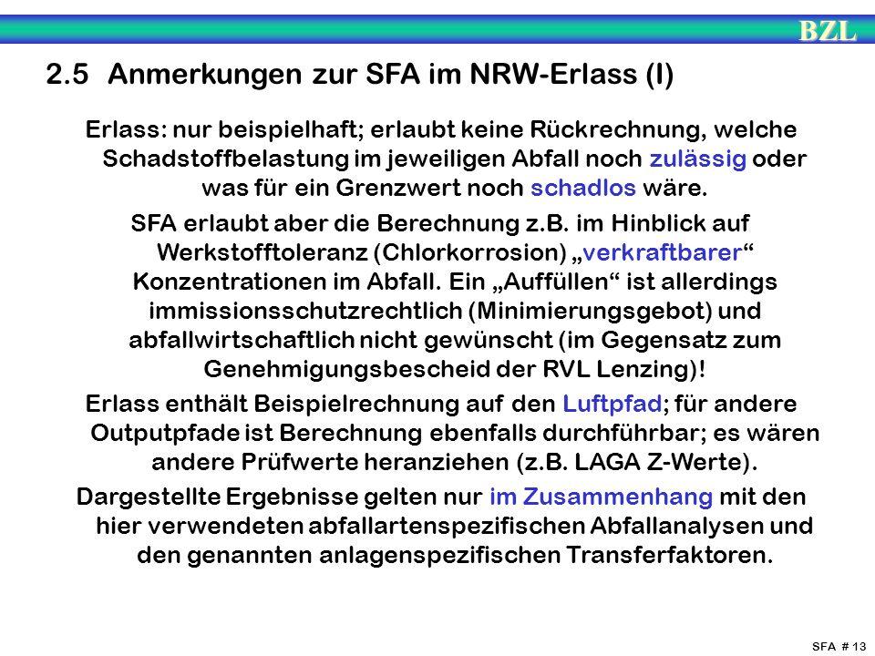 2.5 Anmerkungen zur SFA im NRW-Erlass (I)