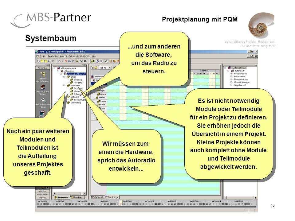 Systembaum ...und zum anderen die Software, um das Radio zu steuern.