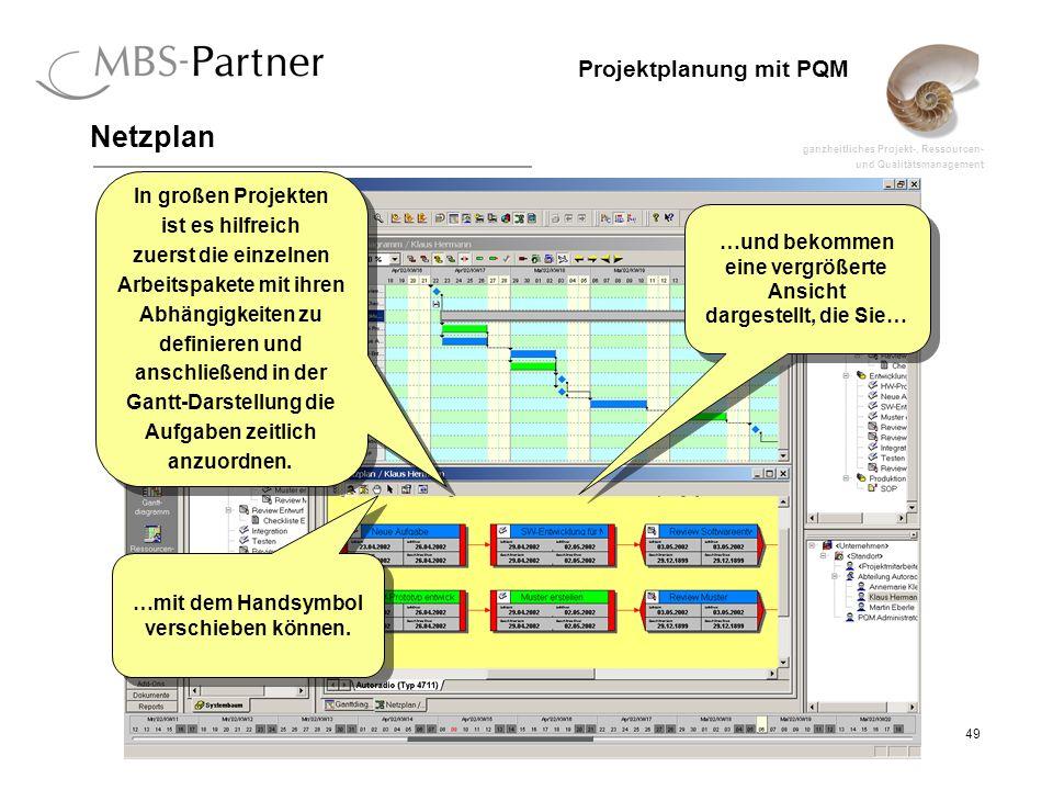 Netzplan In großen Projekten ist es hilfreich zuerst die einzelnen