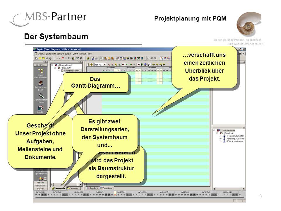 Der Systembaum …verschafft uns einen zeitlichen Überblick über