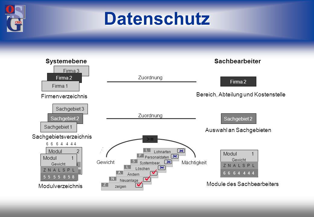 Datenschutz Systemebene Sachbearbeiter >=