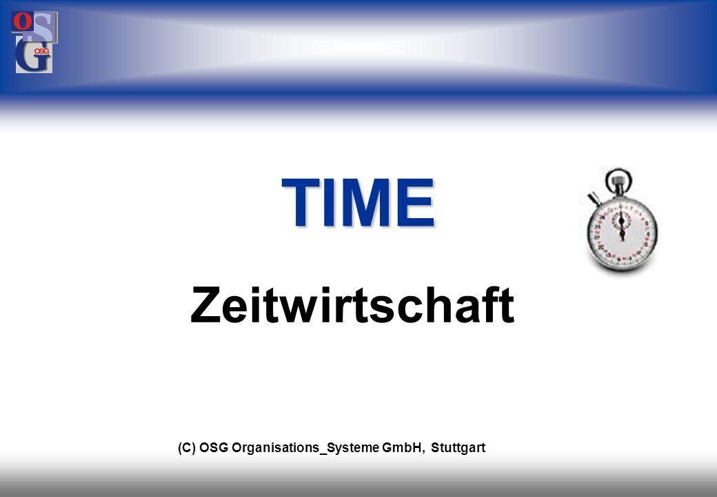 TIME Zeitwirtschaft (C) OSG Organisations_Systeme GmbH, Stuttgart 21