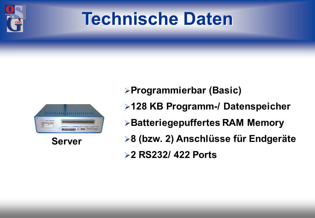 Technische Daten Programmierbar (Basic)