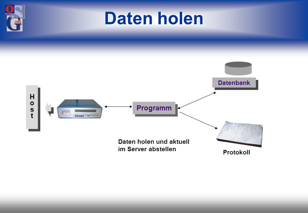 Daten holen H o s t Programm Datenbank