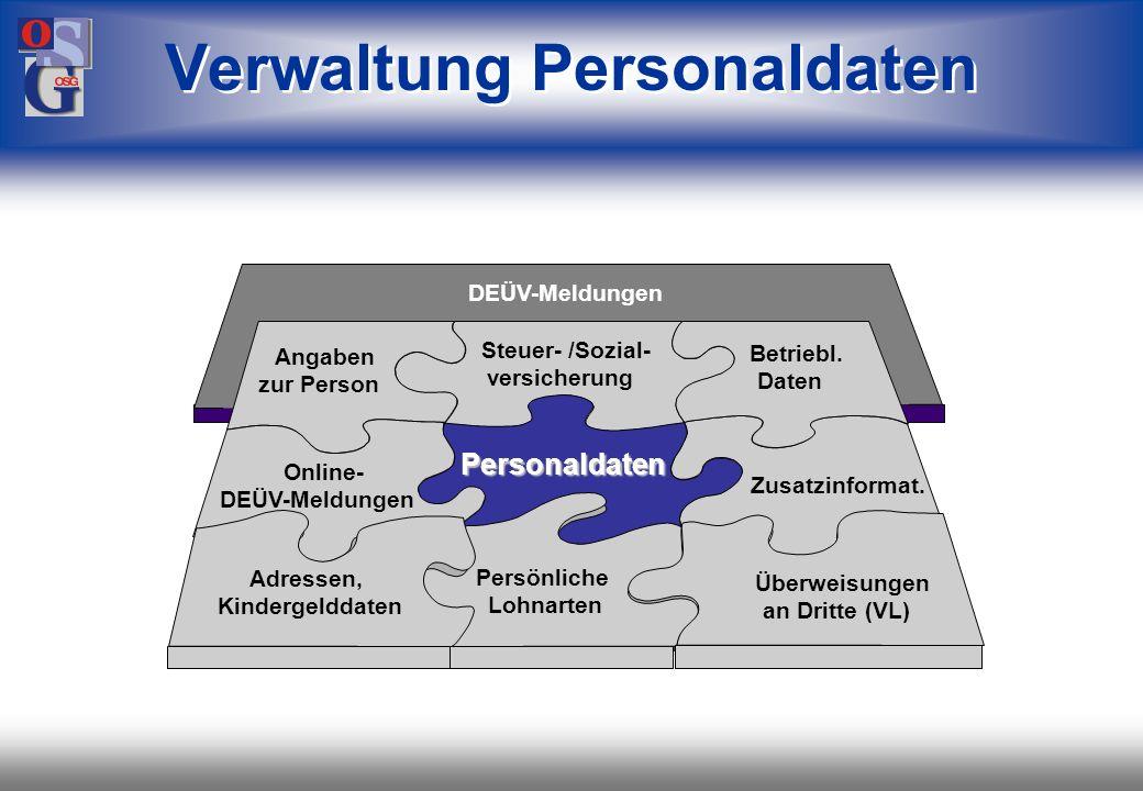 Verwaltung Personaldaten